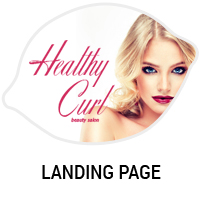 Дизайн сайта салона красоты Healthy Curl