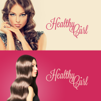 Логотип салона красоты Healthy Curl