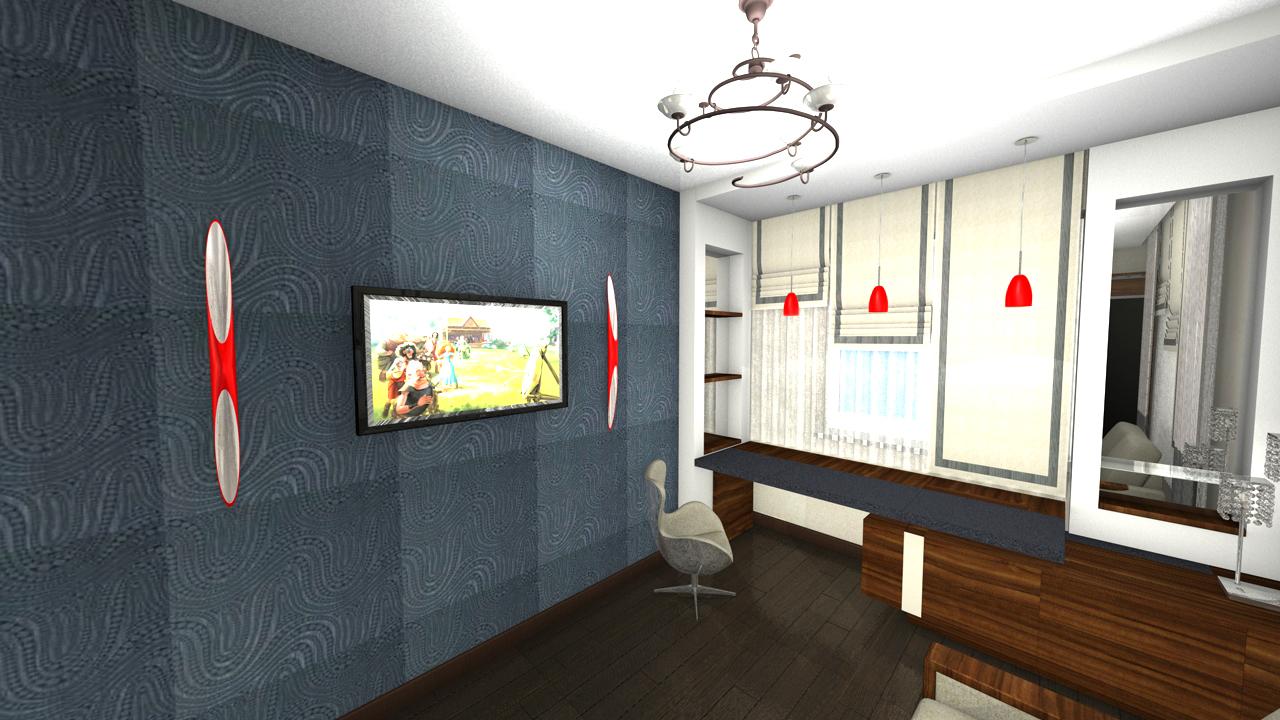 Кабинет - гостевая спальня