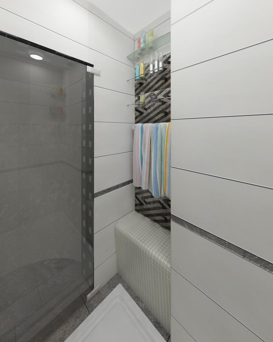Квартира студия Ванна