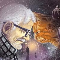Иллюстрация к сказке В.Лебедева Мистер Брыс в Новогоднюю ночь