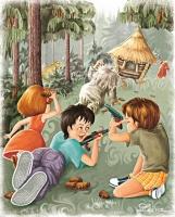 Иллюстрация к сказке  (бой со злодеями)