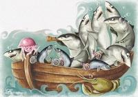 Иллюстрация к сказке (загадка про рыб)