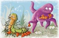 Иллюстрация к сказке (Никита и Полинка)