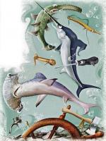Иллюстрация к сказке (загадочные рыбы)