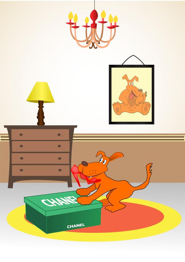 """Иллюстрация для книги """"Счастливый щенок"""""""