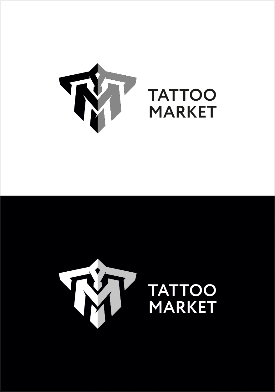 Редизайн логотипа магазина тату оборудования TattooMarket.ru фото f_3075c40914e795f0.jpg