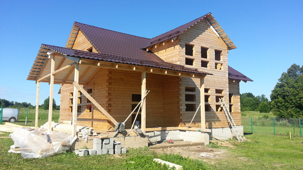 Загородный дом 240 кв.м в процессе строительства