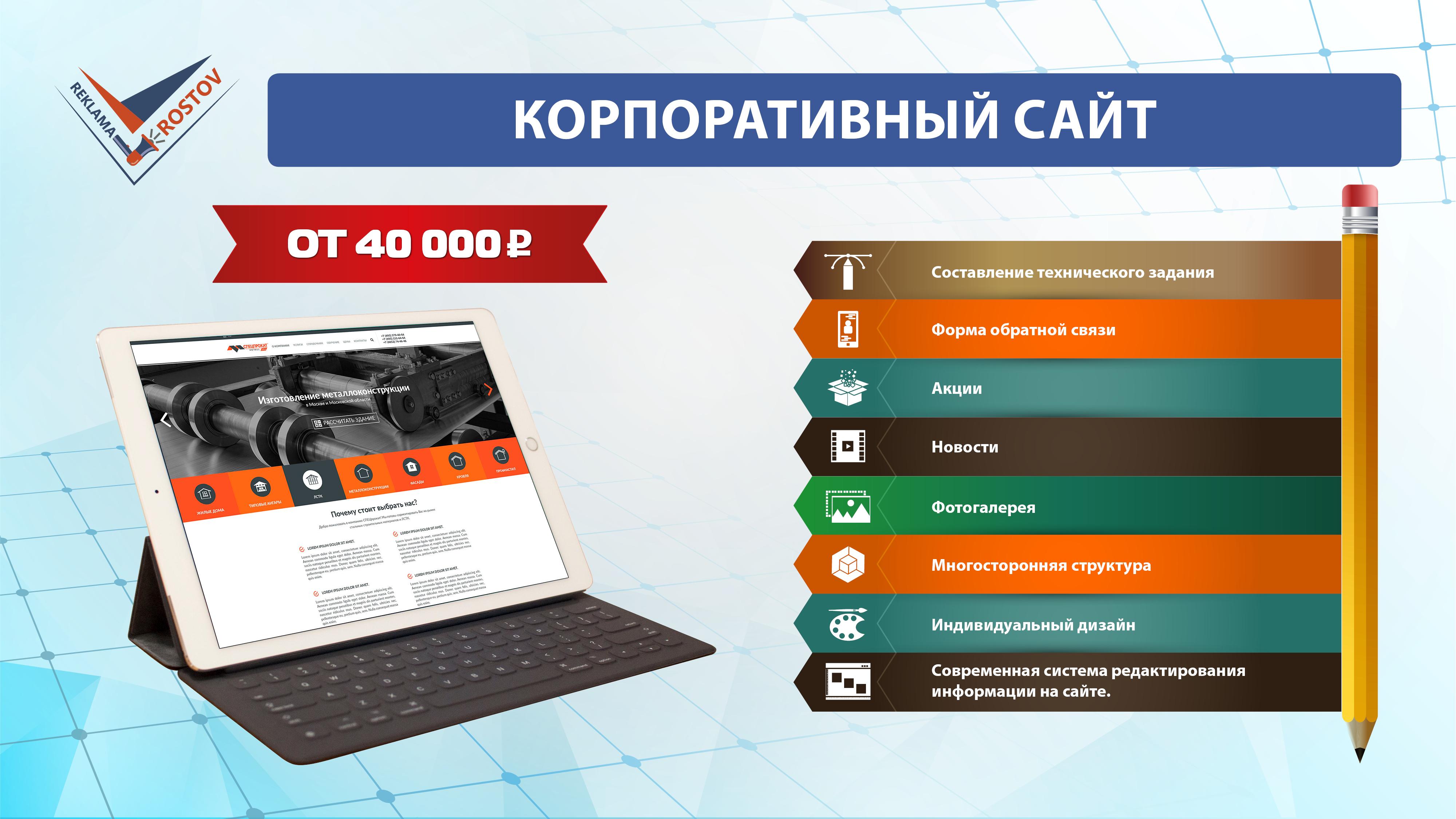 Реклама ростов. Презентация по разработке сайтов.
