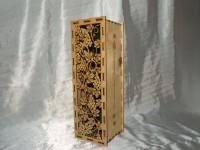 винная коробка, лазерная резка - гравировка