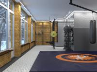 Дизайн проект небольшого спорт зала