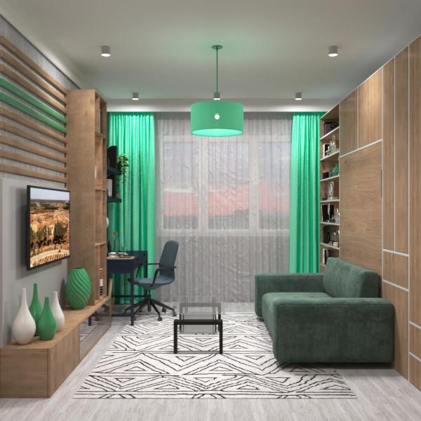 Концепт интерьер дизайна для @fly_beds 22кв.м.