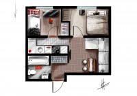 Иллюстрация плана квартиры