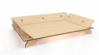 Лежак, фанерная конструкция без болтовое крепление деталей