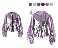 Фешн иллюстрация - куртка, метлик, муар
