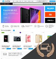 Адаптивный дизайн интернет-магазина электроники и гаджетов Bell.by