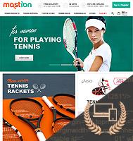 Mostion - адаптивная верстка интернет-магазина брендовой одежды для занятия теннисом