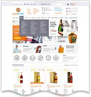 GOOD-DRINKS - интернет-магазин элитных напитков (Дизайн+верстка)