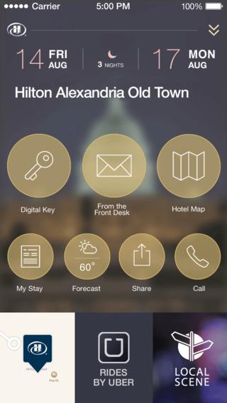 """Разработка дизайна мобильного """"Hilton HONORS"""""""