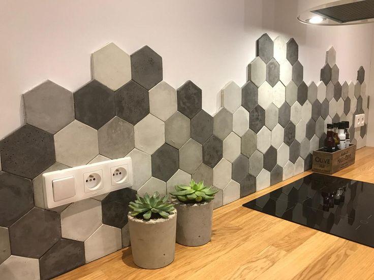 Дизайн кухонного фартука гексагональным пиксель-артом фото f_3495e1dd21a671d3.jpg