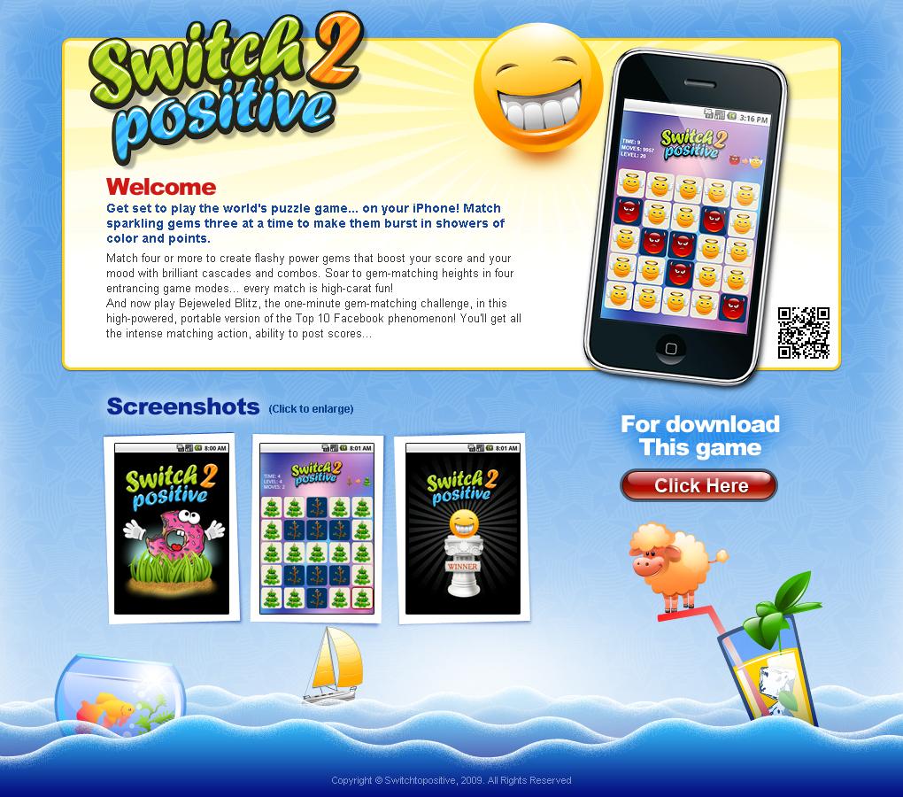 Промо страничка игры для мобильного