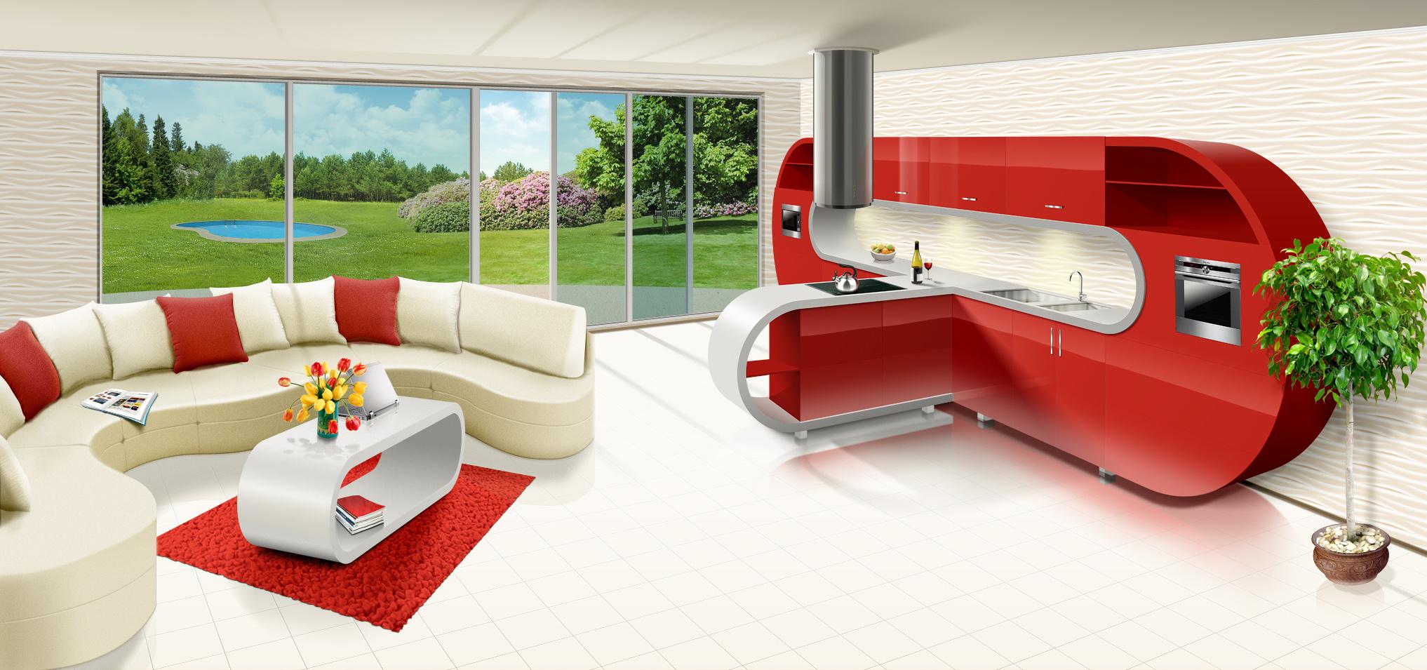 Иллюстрация для сайта мебельной компании