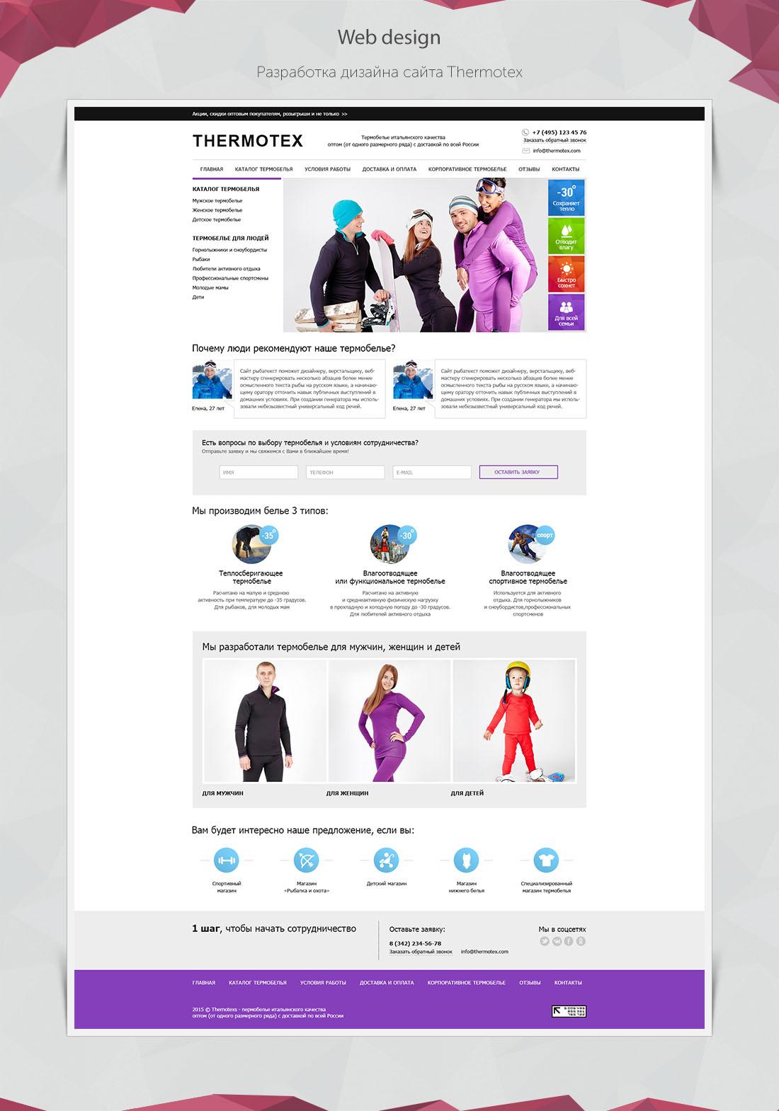 Разработка дизайна сайта Termotex