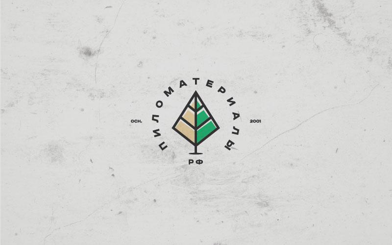 """Создание логотипа и фирменного стиля """"Пиломатериалы.РФ"""" фото f_704530799e9d2fe0.jpg"""