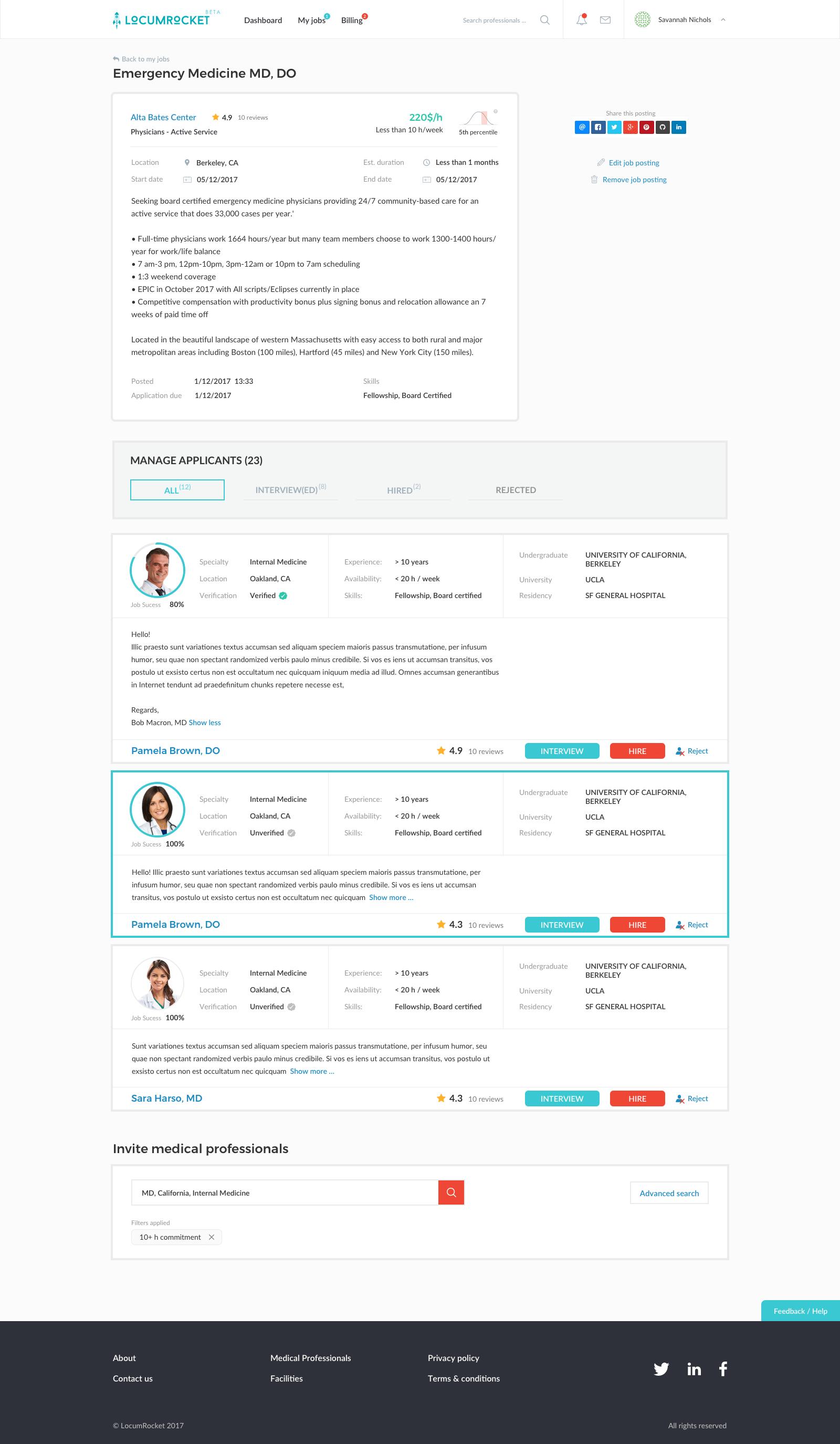 Дизайн сервиса - LocumRocket