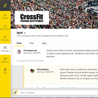 Интерактивный прототип чата Footprint (веб сервис)