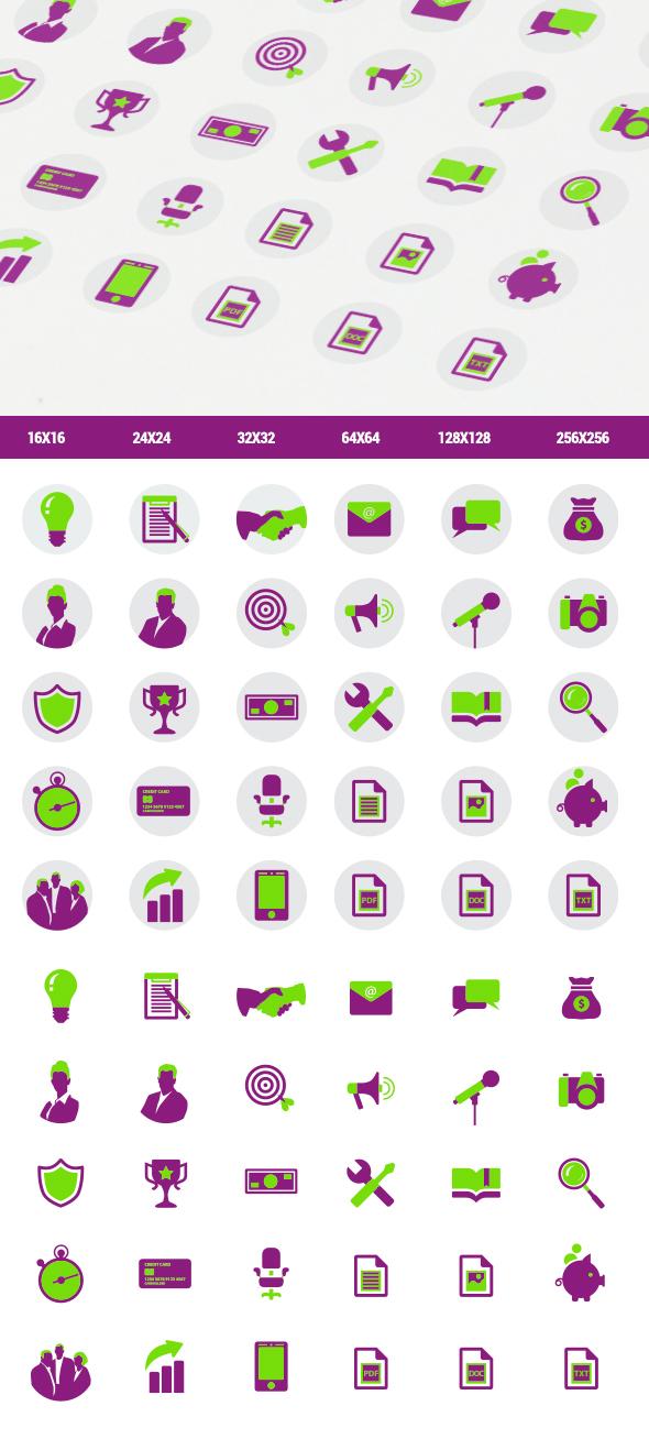 2-цветные плоские иконки