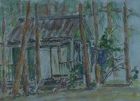 Иллюстрация Домик на турбазе