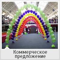 Украшение воздушными шариками