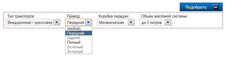 Создание фильтра продукции на javascript