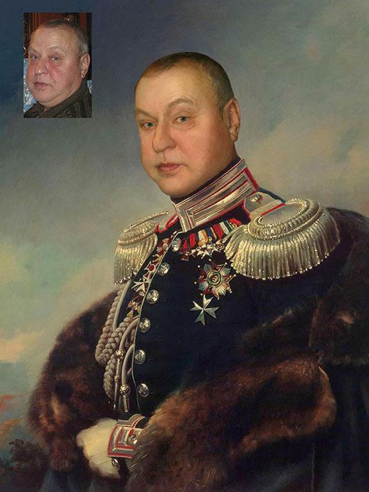 Мужской портрет в мундире_коллаж
