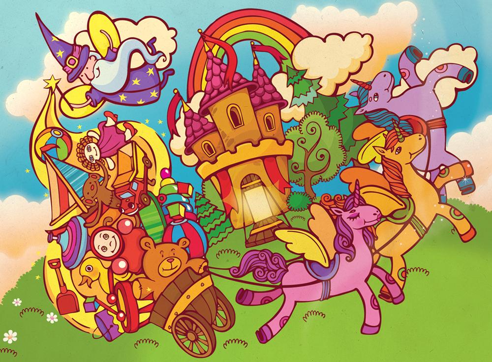 Иллюстрация для магазина игрушек.