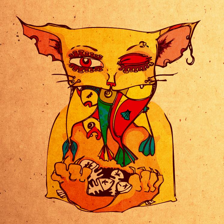 Голодная кошка