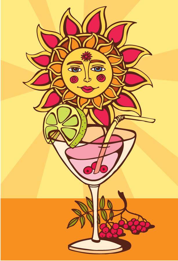 Sunny cocktail