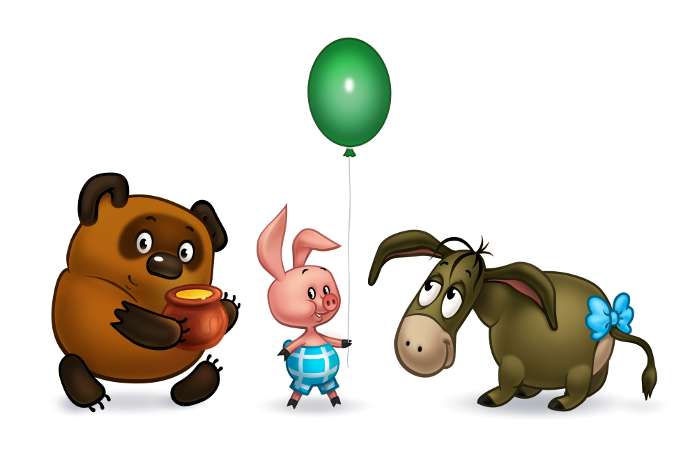 Отрисовка персонажей для постера в стиле «Дисней».