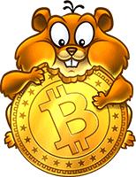 GIF-анимация хомяк Bitcoin
