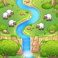 Гиф анимация. Альпийские овцы