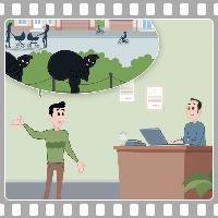 Анимационный рекламный ролик. Охранная система.