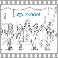 Видео-открытка для новогоднего корпоратива Exadel