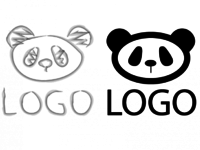 Без предоплаты (по вашему эскизу) Отрисовка и доработка логотипа