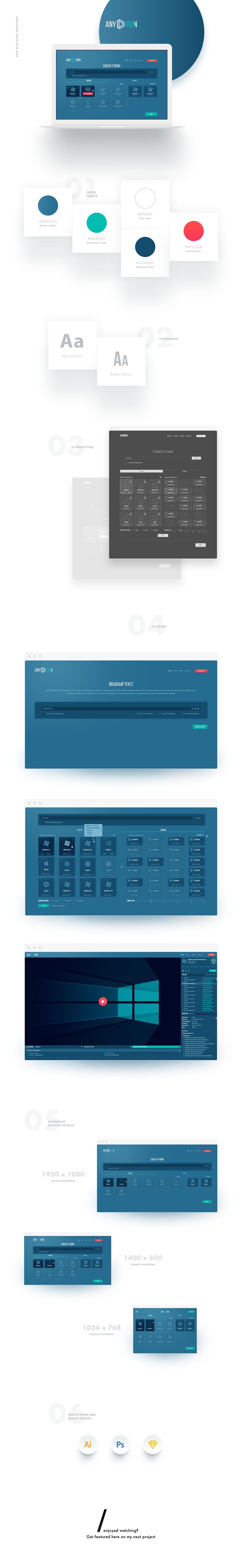 Дизайн для софт приложения Any Run
