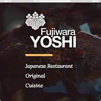 Верстка cайта сети ресторанов Yoshi Fujiwara