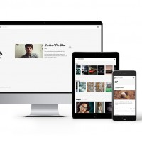 Responsive design of 'Adam Docker'