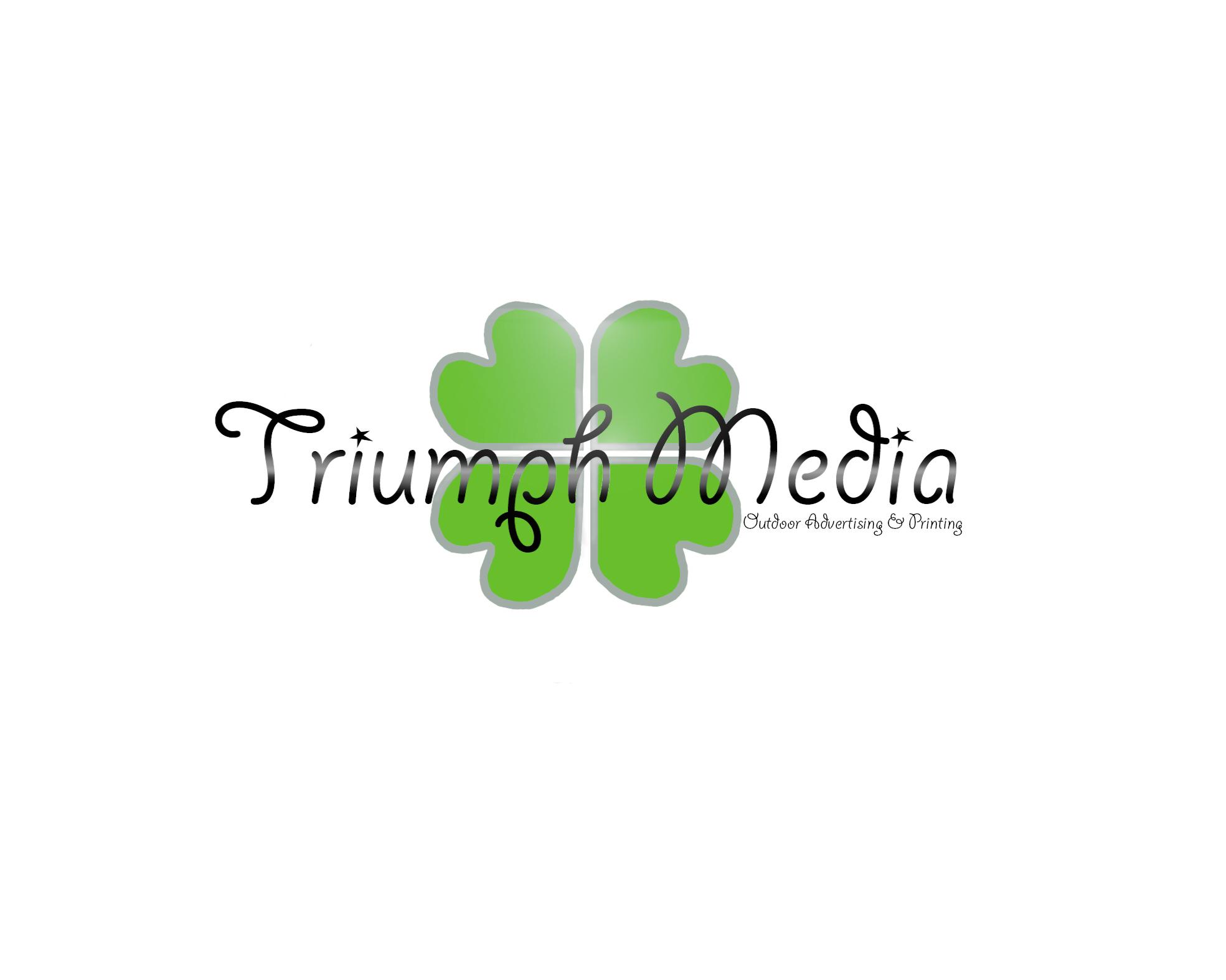 Разработка логотипа  TRIUMPH MEDIA с изображением клевера фото f_506ee94e82b47.jpg