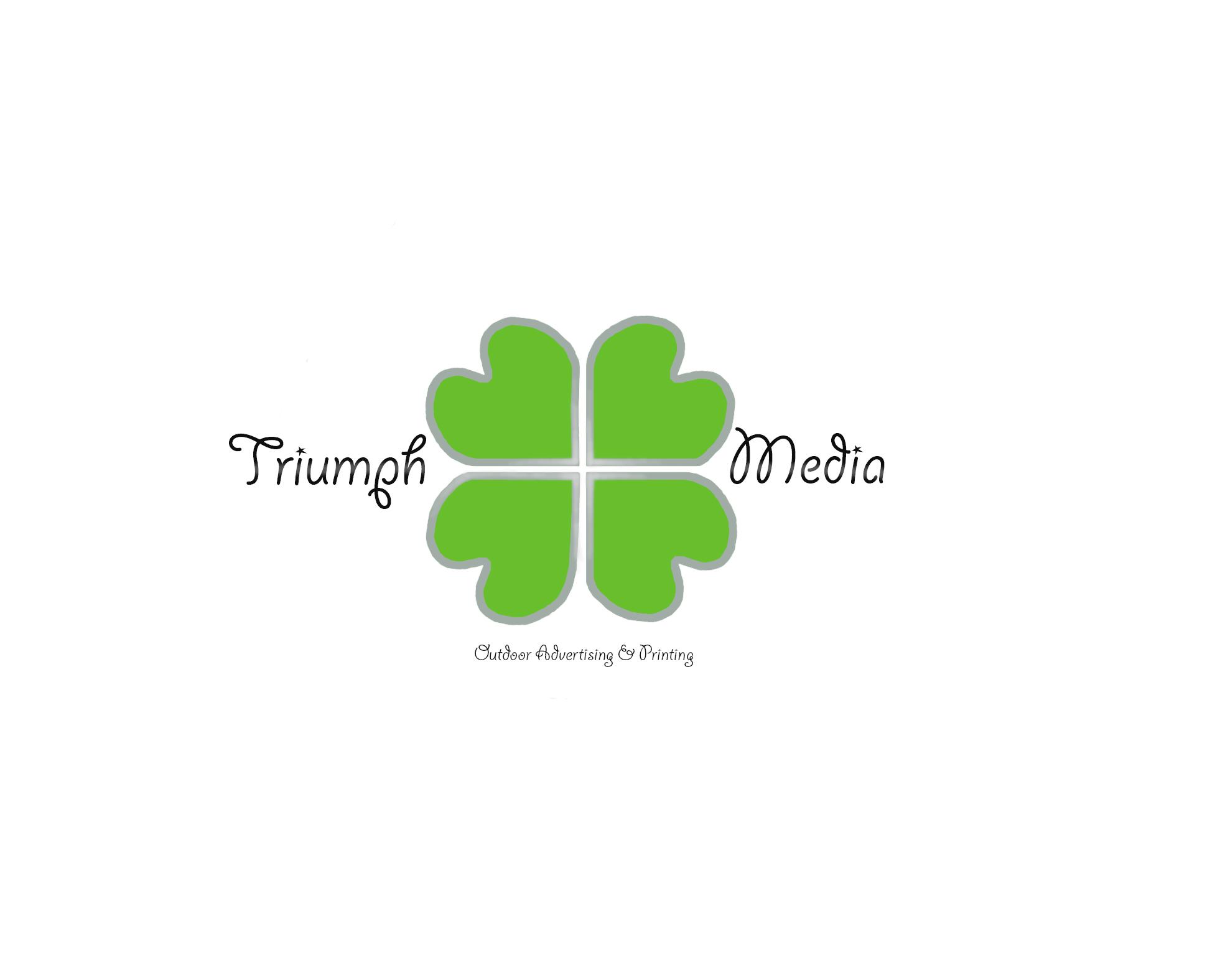 Разработка логотипа  TRIUMPH MEDIA с изображением клевера фото f_506ef9c87b33a.jpg