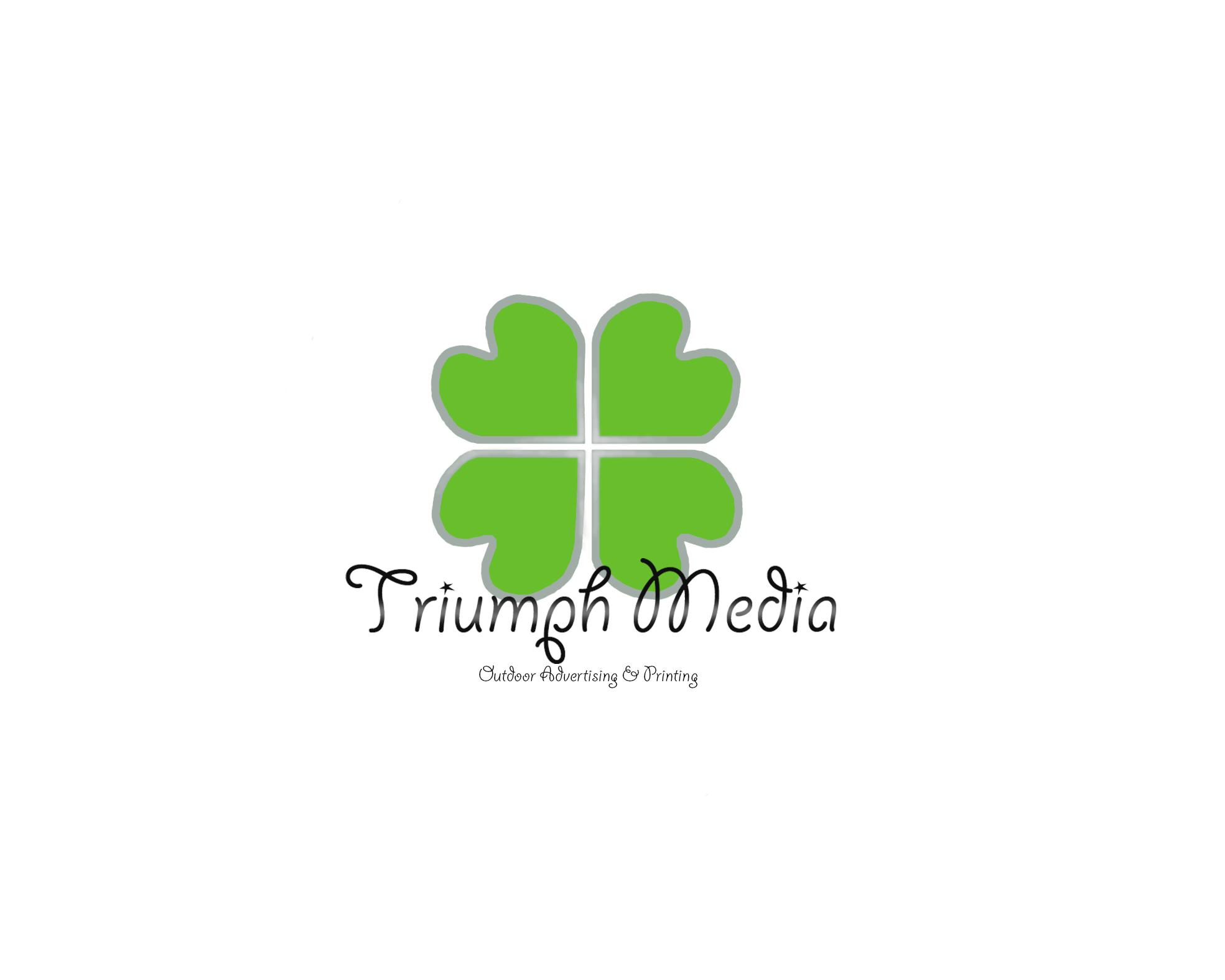 Разработка логотипа  TRIUMPH MEDIA с изображением клевера фото f_506efa0fa09b1.jpg